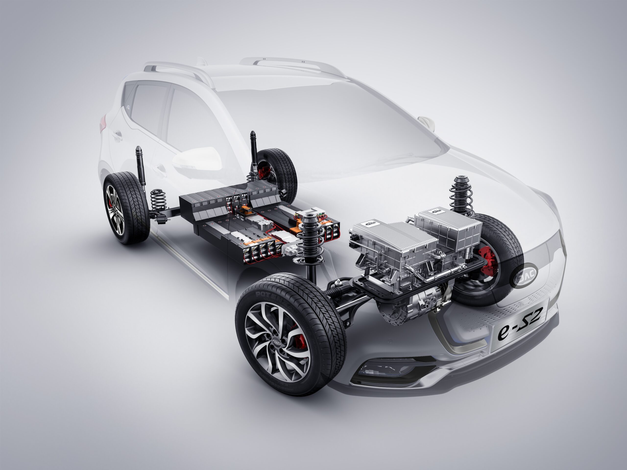 JAC e-S2 Motor, Getriebe, Elektrik